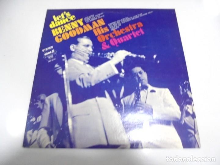 LP. BENNY GOODMAN HIS ORCHESTRE & QUARTET. LET'S DANCE. 1973. (Música - Discos - LP Vinilo - Otros estilos)