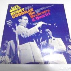 Discos de vinilo: LP. BENNY GOODMAN HIS ORCHESTRE & QUARTET. LET'S DANCE. 1973.. Lote 155753570