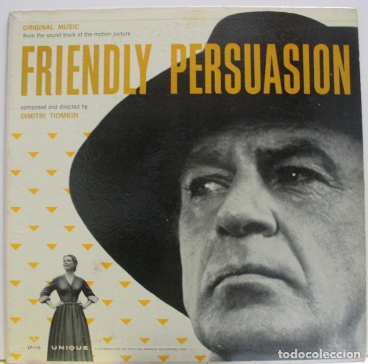 BSO LA GRAN PRUEBA - FRIENDLY PERSUASION DE DIMITRI TIOMKIN (Música - Discos - LP Vinilo - Bandas Sonoras y Música de Actores )
