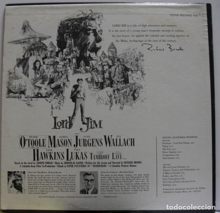 Discos de vinilo: BSO LORD JIM DE BRONISLAW KAPER - Foto 2 - 155757950