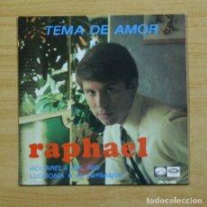 Discos de vinilo: RAPHAEL - ACUARELA DEL RIO + 3 - EP. Lote 155759541