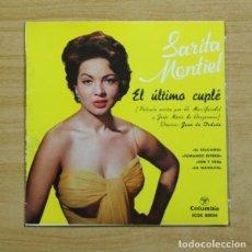 Discos de vinilo: SARITA MONTIEL - EL RELICARIO + 3 - EP. Lote 155759640