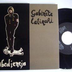 Discos de vinilo: GABINETE CALIGARI EP 7'' OBEDIENCIA MUY RARO 3 CIPRESES 82 JOYA MOVIDA EX. Lote 155762666