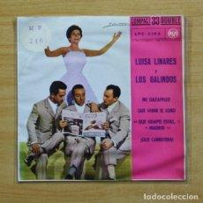 Discos de vinilo: LUISA LINARES / LOS GALINDOS - MI GAZAPILLO + 3 - EP. Lote 155763134
