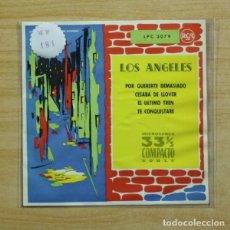 Discos de vinilo: LOS ANGELES - POR QUERERTE DEMASIADO + 3 - EP. Lote 155763468