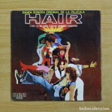 Discos de vinilo: VARIOS - BANDA SONORA PELICULA HAIR EASY TO BE HARD - SINGLE. Lote 155768340