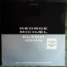 Discos de vinilo: GEORGE MICHAEL, ELTON JOHN – DON'T LET THE SUN GO DOWN ON ME 1991 . Lote 155777210