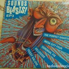 Discos de vinilo: MEGA CITY FOUR / CEREBRAL FIX / PUSSY GALORE / PERFECT DISASTER - SOUNDS BLASTS EP 1989. Lote 155782362