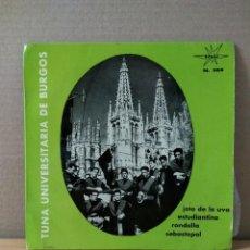 Discos de vinilo: VINILO DE 45 R.P.M TUNA UNIVERSITARIA DE BURGOS 1965. Lote 155784538