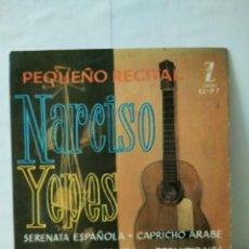 Discos de vinilo: VINILO DE 45 R.P.M .NARCISO YEPES 1961. Lote 155786050