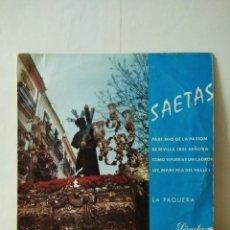 Discos de vinilo: VINILO DE 45 R.P.M .SAETAS.AÑO 1968. Lote 155787034