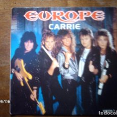 Discos de vinilo: EUROPE - CARRIE + LOVE CHASER . Lote 155789350