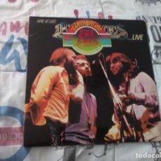 Discos de vinilo: HERE AT LAST BEE GEES LIVE 1977 RSO RECORDS DOBLE DISCO SPAIN. Lote 155800006