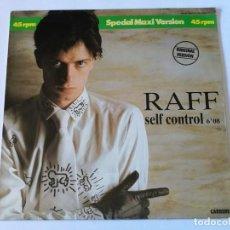 Discos de vinilo: RAFF - SELF CONTROL - 1984. Lote 155801662