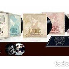 Discos de vinilo: BUNBURY - CANCIONES 1987-2017- 4 LPS + 4CD +LIBRO ..INCLUYE PICTURE DISC SINGLE - BOX NUEVO . Lote 155803270