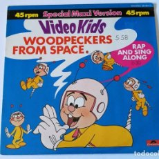 Discos de vinilo: VIDEO KIDS - WOODPECKERS FROM SPACE - 1984. Lote 155803418