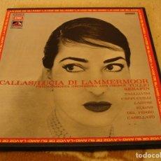 Discos de vinilo: MARIA CALLAS CAJA 2 LPS LUCIA DI LAMMERMOOR TULLIO SERAFIN DONIZETTI ESPAÑA 1972 + LIBRETO . Lote 155807742