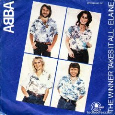 Vinyl records - ABBA - THE WINNER TAKES IT ALL + ELAINE SINGLE SPAIN 1980 - 155813734
