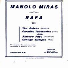 Discos de vinilo: MANOLO MIRAS Y RAFA - THE GEISHA + CARMIÑA TABERNEIRA.. EP SPAIN 1961. Lote 155817610
