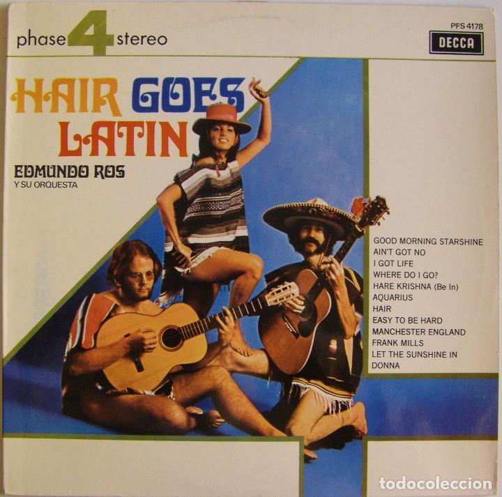 EDMUNDO ROS Y SU ORQUESTA – HAIR GOES LATIN, DECCA – PFS 4178, DECCA – PFS. 4.178 (Música - Discos - LP Vinilo - Orquestas)