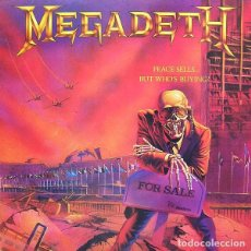Discos de vinilo: MEGADETH LP PEACE SELLS... BUT WHO'S BUYING? REEDICION VINILO . Lote 155838686