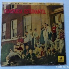 Discos de vinilo: DISCO COMPARSA ESTUDIANTIL. - LET'S TWIST AGAIN - EP RARISIMO DE ROCK AND ROLL DE 1962.. Lote 155847338