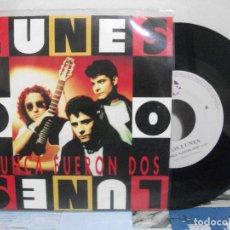 Discos de vinilo: LOS LUNES NUNCA FUERON DOS + SACAME A BAILAR SINGLE SPAIN 1992 PDELUXE. Lote 155847854