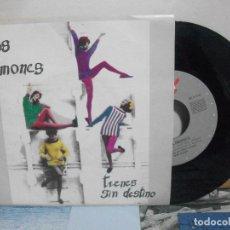 Discos de vinilo: LOS LIMONES TRENES SIN DESTINO SINGLE SPAIN 1990 PDELUXE. Lote 155848446