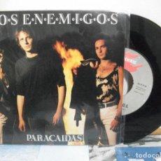 Discos de vinilo: LOS ENEMIGOS PARACAIDAS SINGLE SPAIN 1992 PDELUXE. Lote 155850270