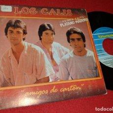 Discos de vinilo: LOS CALIS PLATANO MADURO 7'' SINGLE 1988 FONOMUSIC DOBLE CARA. Lote 155859122