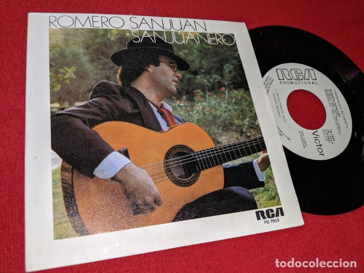 ROMERO SANJUAN SAN JUANERO/MUJER 7'' SINGLE 1985 RCA PROMO (Música - Discos - Singles Vinilo - Flamenco, Canción española y Cuplé)