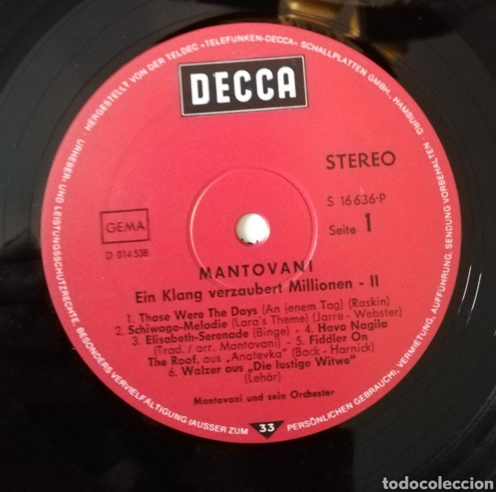 Discos de vinilo: Mantovani - Ein klang Verzaubert Millionen 2 - Foto 3 - 155862077