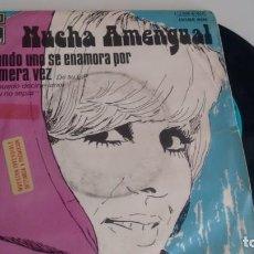 Discos de vinilo: SINGLE (VINILO) DE NUCHA AMENGUAL AÑOS 70. Lote 155879874
