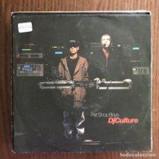 Discos de vinilo: PET SHOP BOYS - DJ CULTURE / MUSIC FOR BOYS -SINGLE PARLOPHONE ALEMANIA 1991 . Lote 155891818