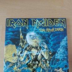 Discos de vinilo: IRON MAIDEN LIVE AFTER DEATH DOBLE LP. Lote 155911878