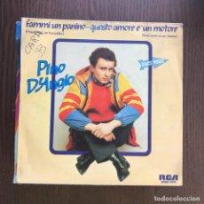 Discos de vinilo: PINO D'ANGIÓ - FAMMI UN PANINO - SINGLE RCA 1982 . Lote 155912862