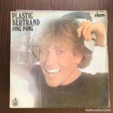 Discos de vinilo: PLASTIC BERTRAND - PING PONG / CHOUBIDOUBI BABY - SINGLE HISPAVOX 1981 . Lote 155917630