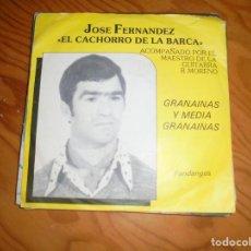 Discos de vinilo: JOSE FERNANDEZ, EL CACHORRO DE LA BARCA. FANDANGOS / GRANAINAS. RECO, EDC. HOLLAND. Lote 155917982