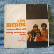 Discos de vinilo: LOS IBEROS - SUMMERTIME GIRL + 1 - SINGLE SPAIN COLUMBIA MO 457 DEL AÑO 1968 TRICENTRO INCLUIDO. Lote 155919270