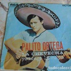 Discos de vinilo: PALITO ORTEGA - LA CHEVECHA - SINGLE. Lote 155921390