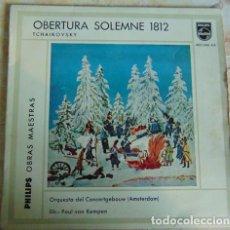 Discos de vinilo: TCHAIKOVSKY - ORQUESTA DEL CONCERTGEBOW ,PAUL VAN KEMPEN – OBERTURA SOLEMNE 1812 - EP 1959. Lote 155921678