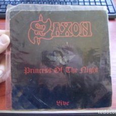 Discos de vinilo: SAXON, PRINCESS OF THE NIGHT LIVE. EPIC CARRERE CAR 0035, 1.982. Lote 155924126