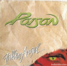 Discos de vinilo: POISON: FALLEN ANGEL / BAD TO BE GOOD. Lote 155932398