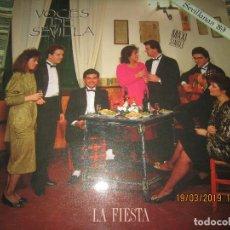 Discos de vinilo: VOCES DE SEVILLA - LA FIESTA MAXI SINGLE 45 R.P.M. - PROMO ESPAÑOL - ZAFIRO 1988 NUY NUEVO(5). Lote 155932850