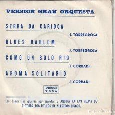 Discos de vinilo: JOSE TORREGOSA - SERRA DA CARIOCA + 3 (EP YOGA PROMOCIONAL 1975). Lote 155936386