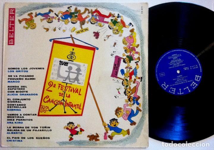 VARIOS - 2º FESTIVAL DE LA CANCIÓN INFANTIL DE T.V.E. - LOS GRITOS, MARCO, ALICIA GRANADOS...- LP (Música - Discos - LP Vinilo - Otros Festivales de la Canción)