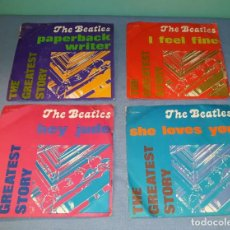 Discos de vinilo: LOTE DE SINGLES THE BEATLES EDITADOS EN ITALIA ORIGINALES VER FOTOS Y DESCRIPCION . Lote 155972046