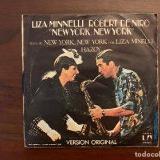 Discos de vinilo: LIZA MINNELLI ?– NEW YORK, NEW YORK SELLO: UNITED ARTISTS RECORDS ?– 17.544-A FORMATO: VINYL, 7 . Lote 155973226