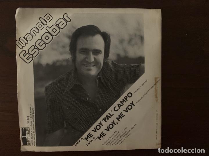 Discos de vinilo: Manolo Escobar – Me Voy Pal Campo Sello: DB Belter – 1-10-036 Formato: Vinyl, 7 , 45 RPM, Single - Foto 2 - 155974182
