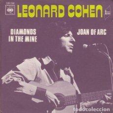 Discos de vinilo: LEONARD COHEN - JOAN OF ARC - SINGLE DE VINILO EDICION FRANCESA. Lote 155974702